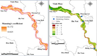 Thiết lập mô hình thuỷ lực hai chiều để tính toán lũ cho khu vực sông Hồng đoạn từ Sơn Tây tới Hưng Yên